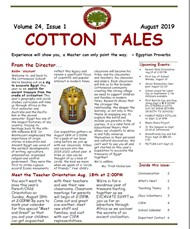 Cottonwood School August 2019 Newsletter