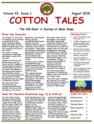 August 2018 Cotton Tales Newsletter