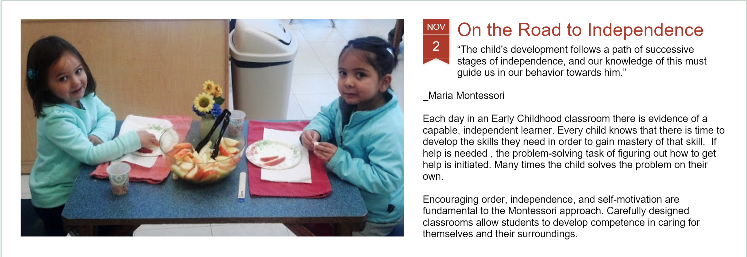 Our New Blog - Montessori Musings